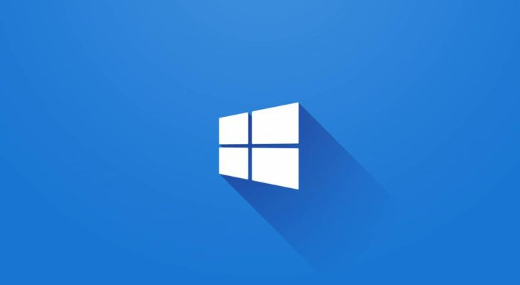 Logo de windows 10 con fondo azul e icono de windows blanco en el centro